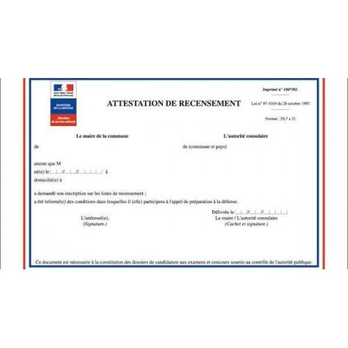 Certificado de empadronamiento