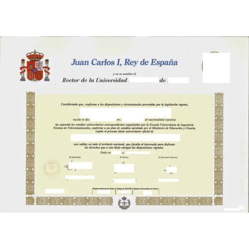 Títulos y diplomas