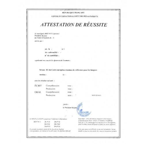 Certificado de estudios o prácticas