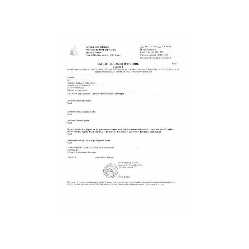 Certificado de Antecedentes Penales virgen
