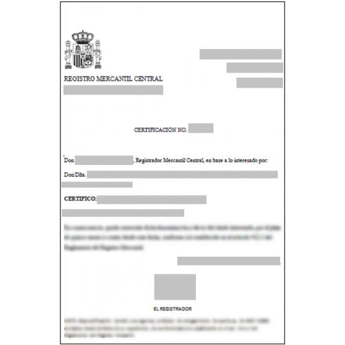 Certificados del registro