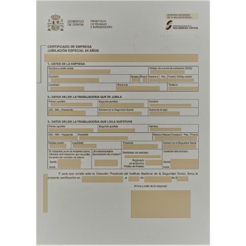 Certificado de jubilación