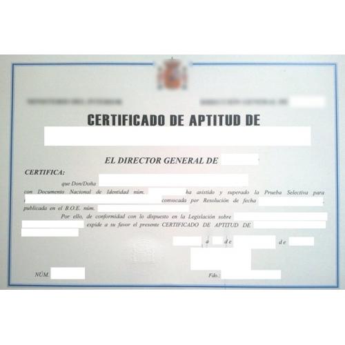 Certificado de aptitud profesional