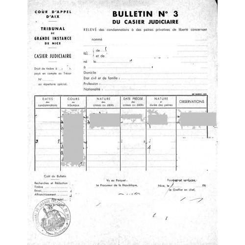 Certificado de Antecedentes Penales no virgen