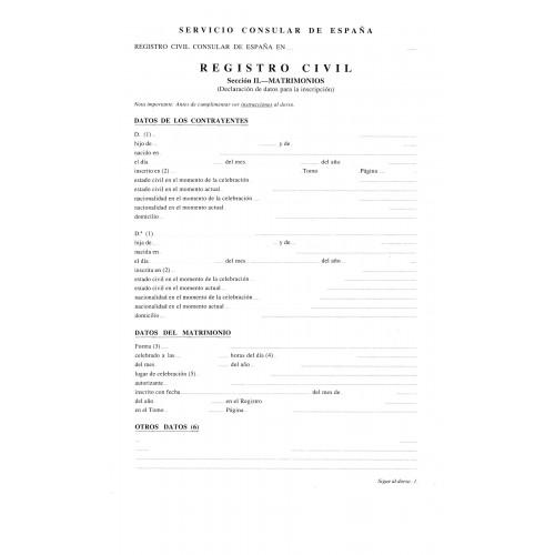 Certificado de capacidad matrimonial